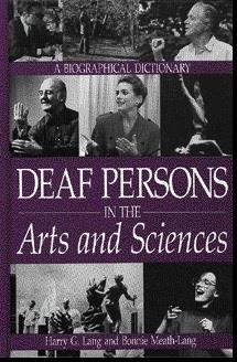 Book cover, Deaf Persons in the Arts and Sciences
