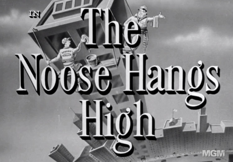 Title screen for movie The Noose Hangs High.