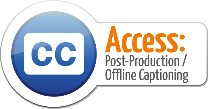 Access post-production offline captioning logo