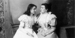 Young Helen and Annie Sullivan
