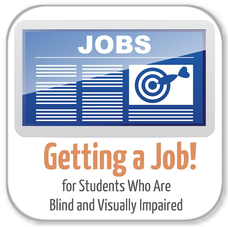 logo- getting a job for students who are blind and visually impaired