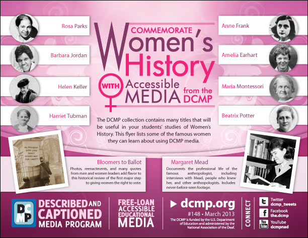 Commemorate Women's History With Accessible Media