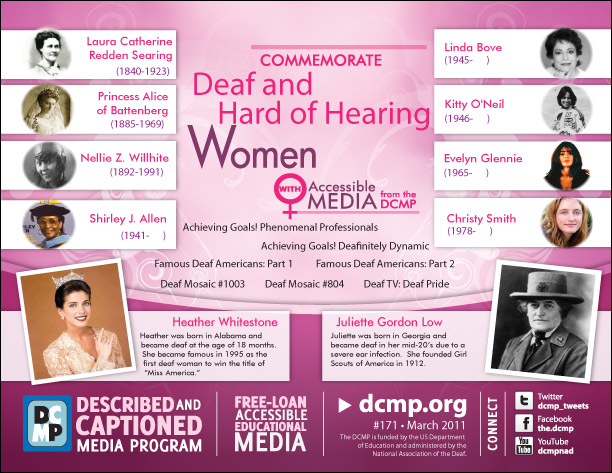 Commemorate Deaf and Hard of Hearing Women
