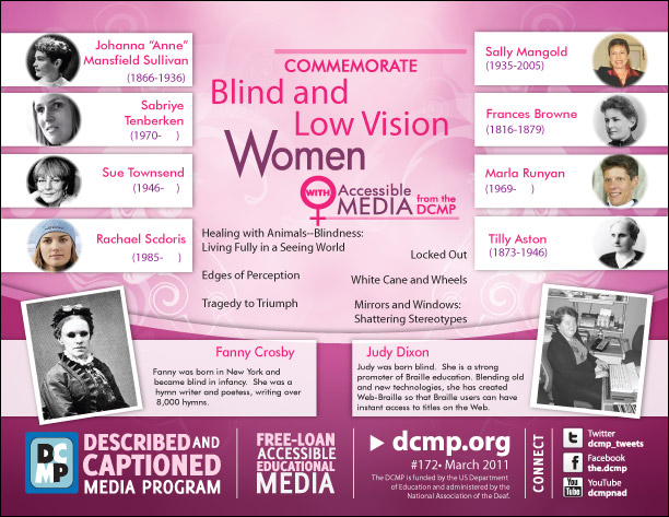Commemorate Blind and Low Vision Women
