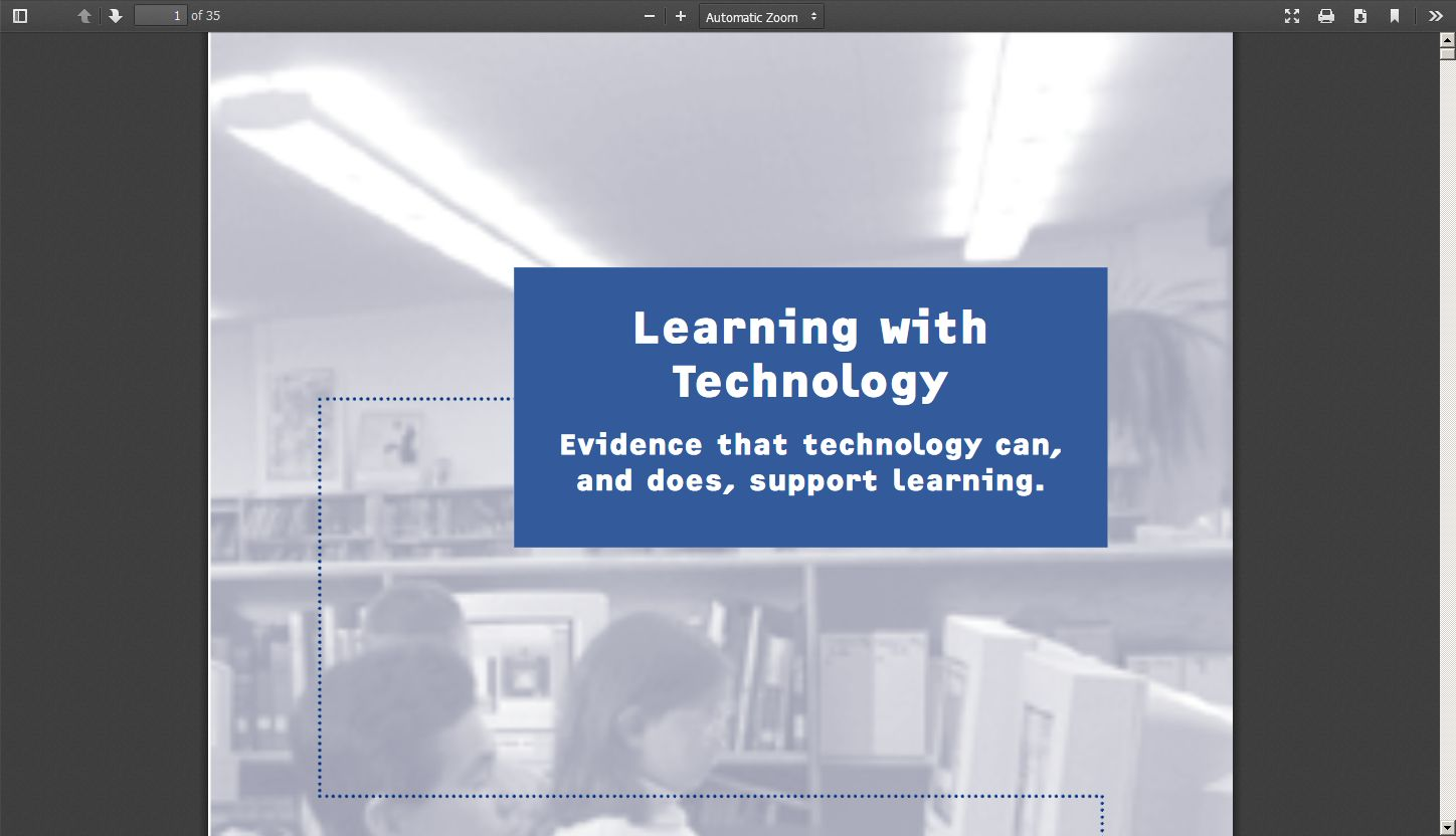 Learning with Technology: Evidence that Technology Can, and Does, Support Learning