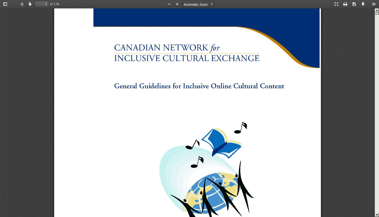 Canadian Network for Inclusive Cultural Exchange: General Guidelines for Inclusive Online Cultural Content