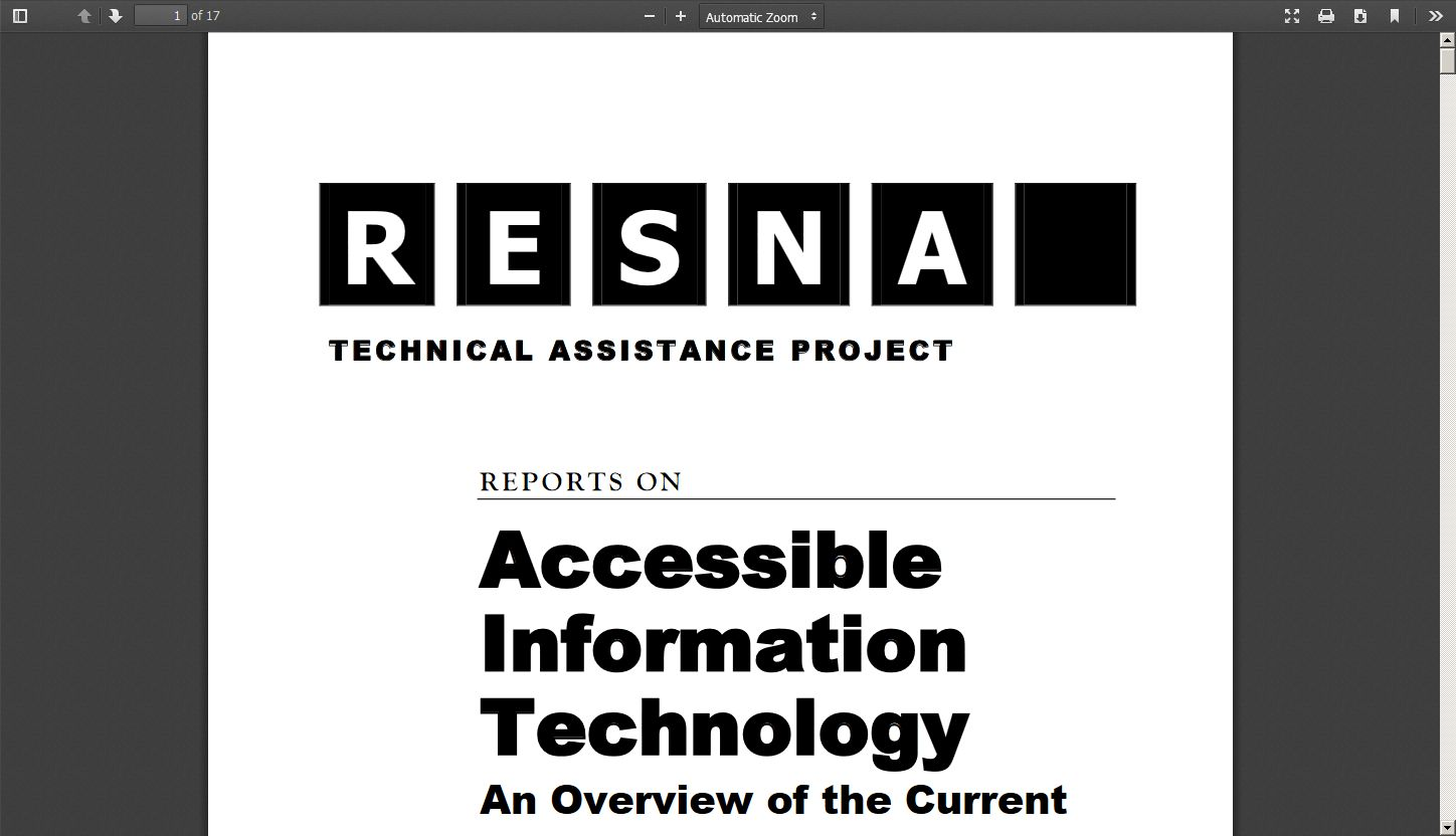 Accessible Information Technology: An Overview of the Current State of Federal and State Laws and Policies