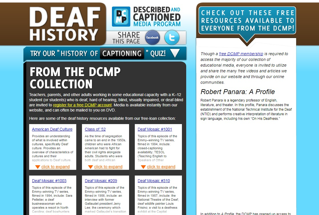 Deaf History Resources