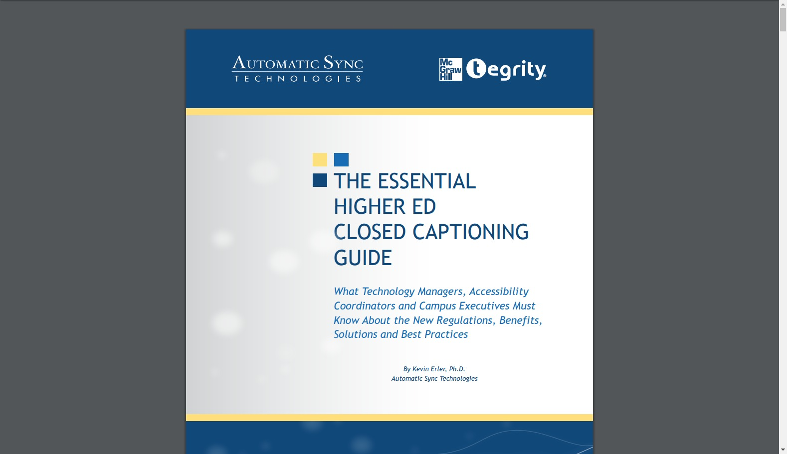The Essential Higher Ed Closed Captioning Guide