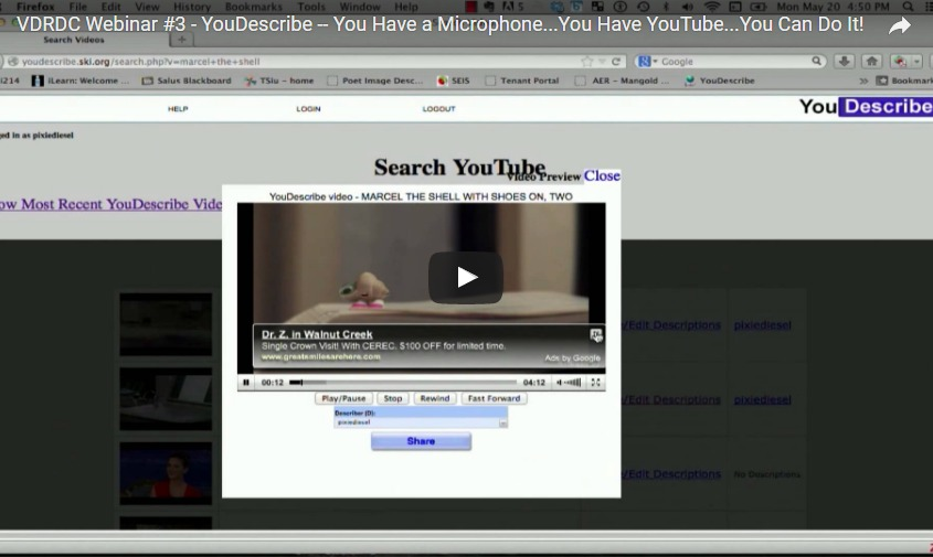 YouDescribe – How You Can Add Audio Description to Any YouTube Video!