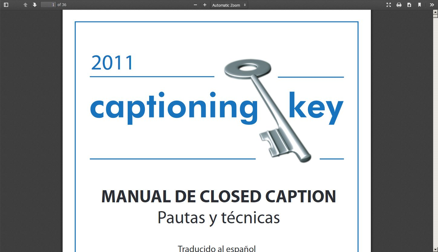 The Captioning Key (Spanish Translation)