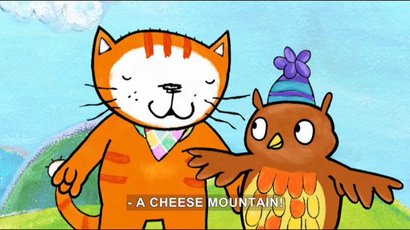 Still image from Poppy Cat: Cheese Mountains/Space Monsters