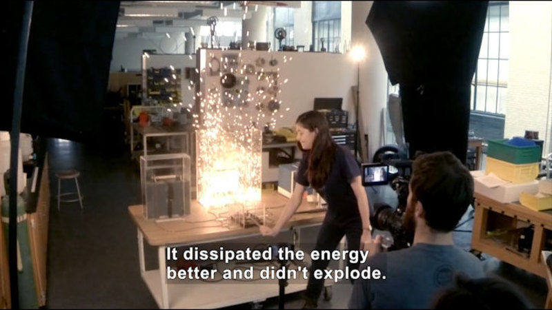 Still image from MIT Physics Demos: Exploding Wire and Ohm's Law