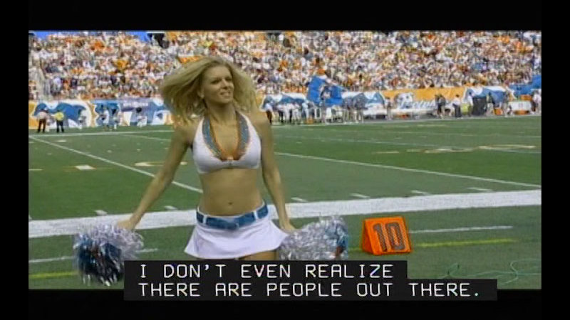 Still image from Achieving Goals! Career Stories of Individuals Who Are Deaf and Hard of Hearing: Ambitious Achievers (Lisa Fishbein, Miami Dolphins Cheerleader)