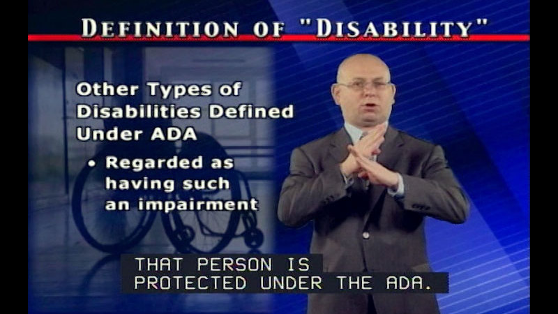 Still image from The Americans With Disabilities Act: The Basics of the Americans With Disabilities Act (Part One)