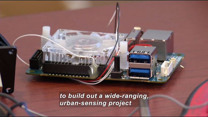 """Still image from Science Nation: NSF Supports """"Array of Things"""" (AoT) Prototype in Chicago"""