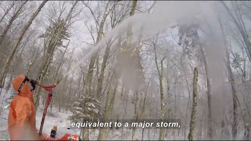 Still image from Science Nation: Scientists Create Ice Storms to Study Nature's Chilly Response