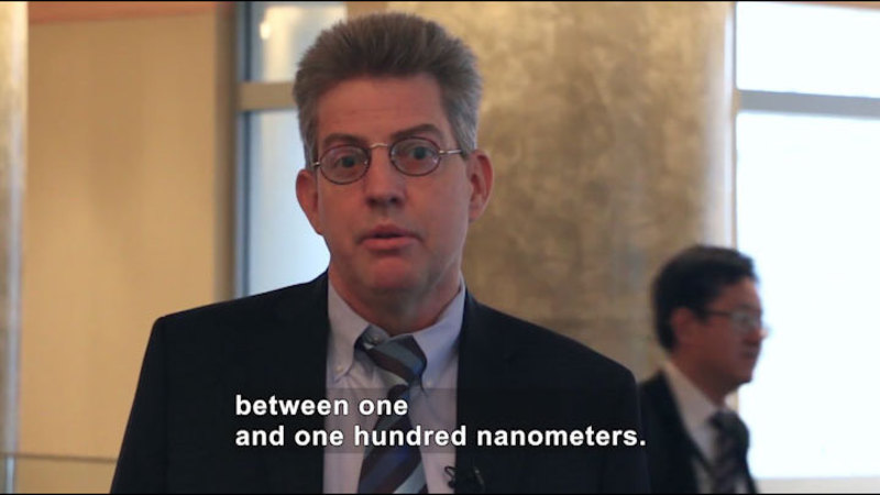 Still image from Ask a Scientist: What Is the Difference Between Nanoscale and Atomic Scale?