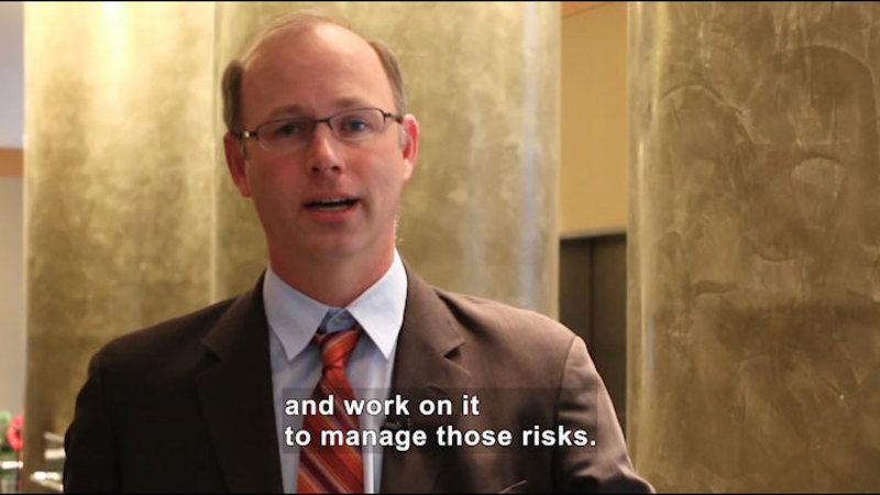 Still image from Ask a Scientist: How Do You Manage the Risks Associated With Nanotechnology?