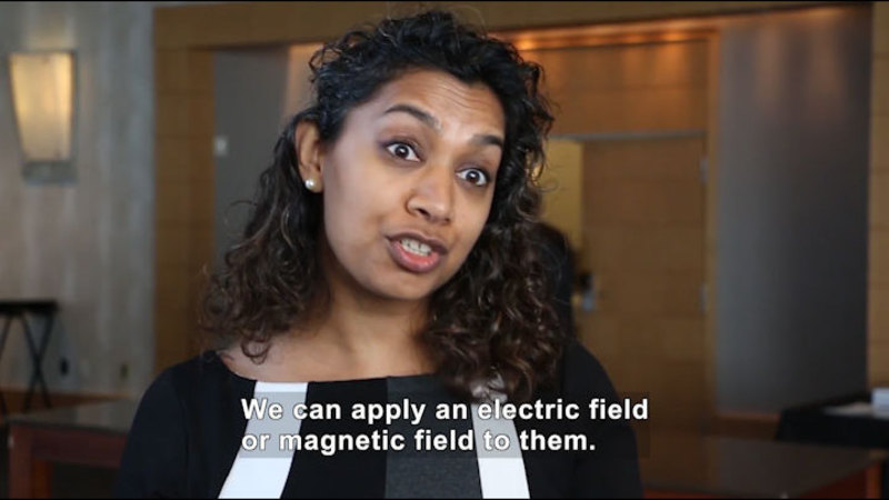 Still image from Ask a Scientist: How Do You Work With Nanoscale Materials Since They Are So Small?
