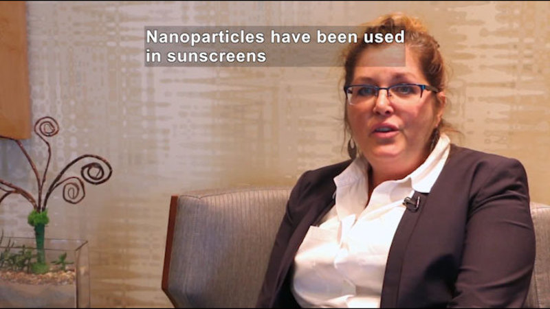 Still image from Ask a Scientist: Can Nanotechnology Be Used to Improve Current Household Products?