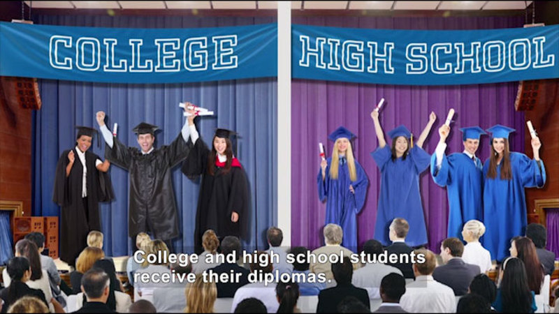Still image from All About the Holidays: Graduation Day