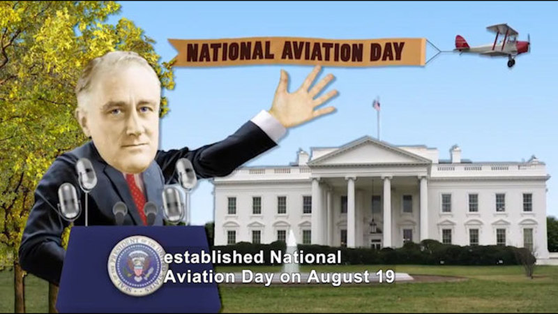 Still image from All About the Holidays: National Aviation Day