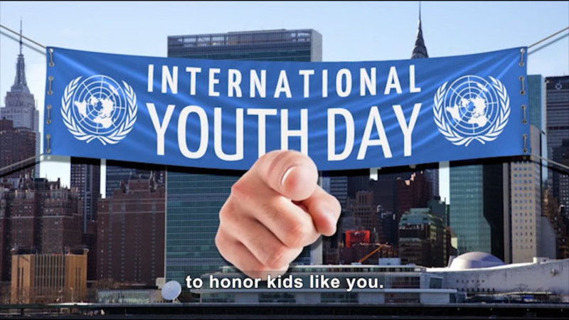Still image from All About the Holidays: International Youth Day