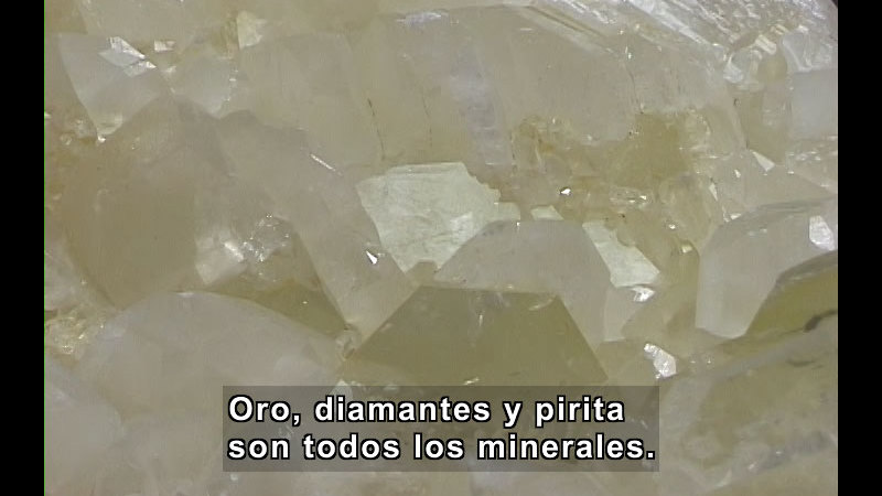 Still image from The Rock Cycle (Spanish)