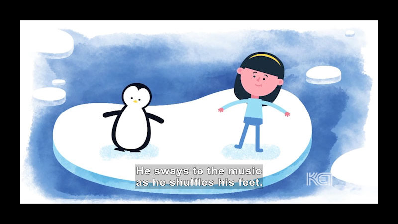 Still image from Do the Penguin Shuffle