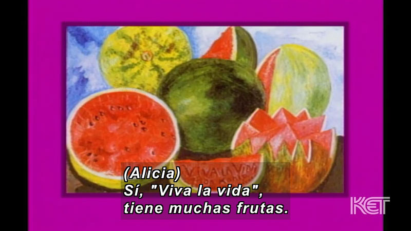 Still image from Art and More: Lesson 51 (Spanish)