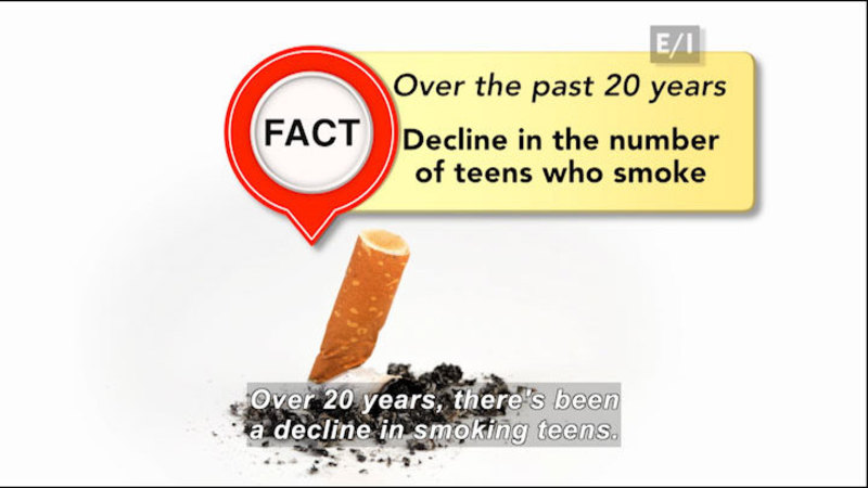 Still image from Teen Kids News: Special on Tobacco (Smoking Overview)