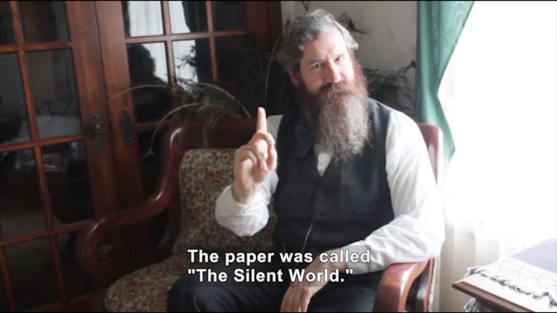 Still image from Deaf History That: Who Was Melville Ballard