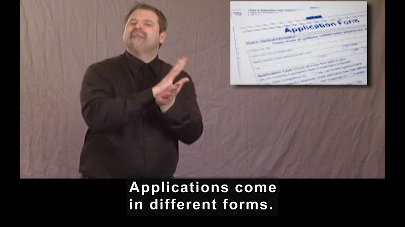 Still image from Job Applications