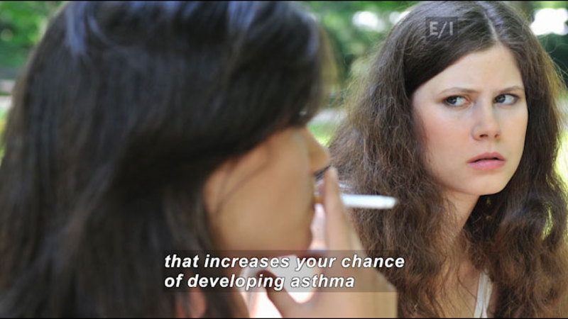 Still image from Teen Kids News: Special on Tobacco (Smoking and Asthma)