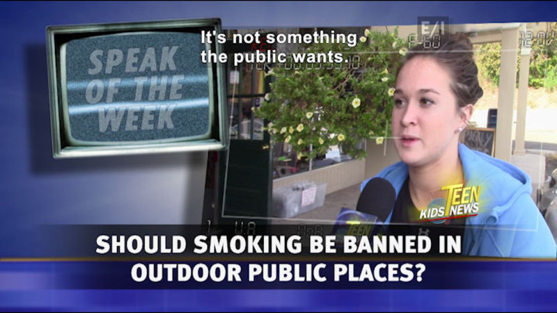 Still image from Teen Kids News: Special on Tobacco (Should Smoking Be Banned in Public Outdoor Spaces in CT?)