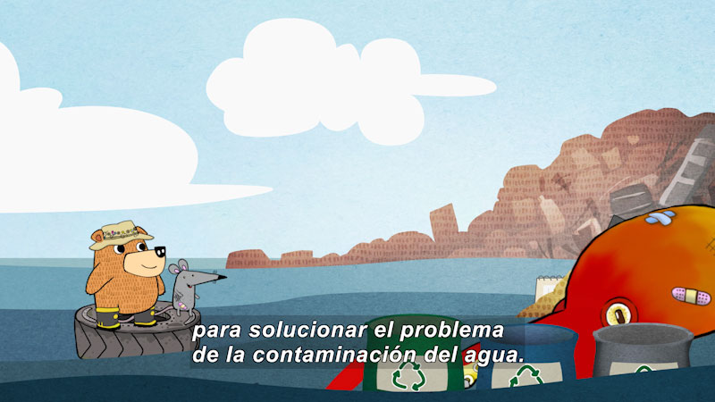 Still image from Eco S.O.S.--Water Pollution (Spanish)