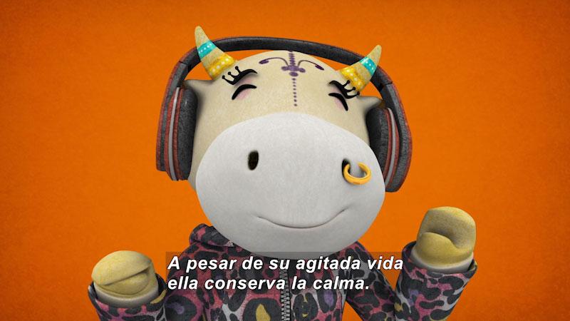 Still image from Ooommm Mmmooo Yoga For Children: Superstar Aisha--Famous Cow (Spanish)