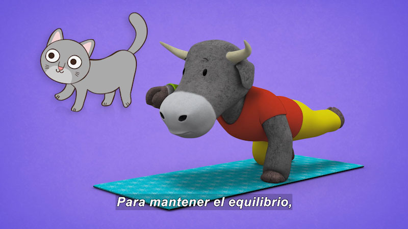 Still image from Ooommm Mmmooo Yoga For Children: Courageous Pepe--Acrobat Bull (Spanish)