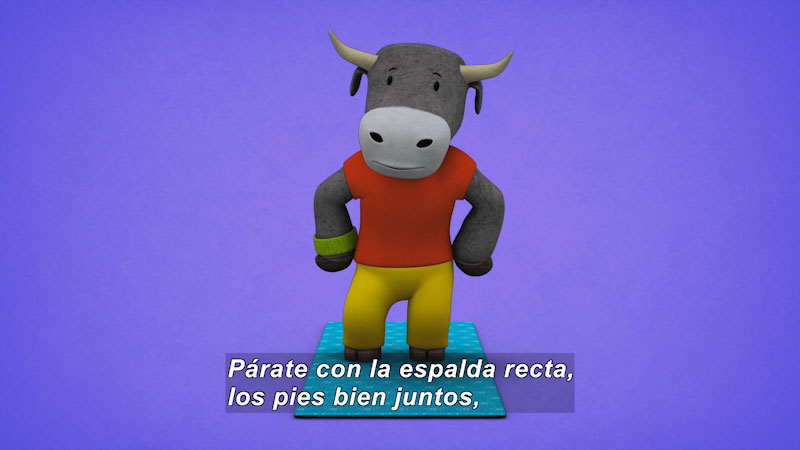Still image from Ooommm Mmmooo Yoga For Children: Courageous Pepe--Balanced Dancer (Spanish)