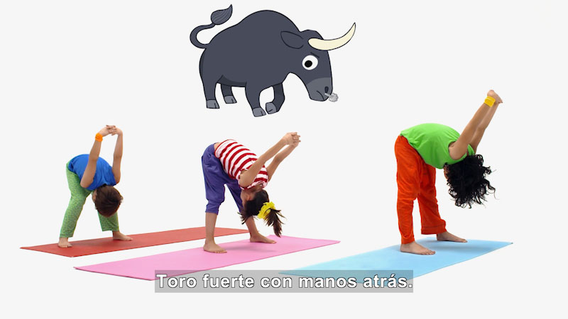 Still image from Ooommm Mmmooo Yoga For Children: Courageous Pepe--Strong Bull (Spanish)