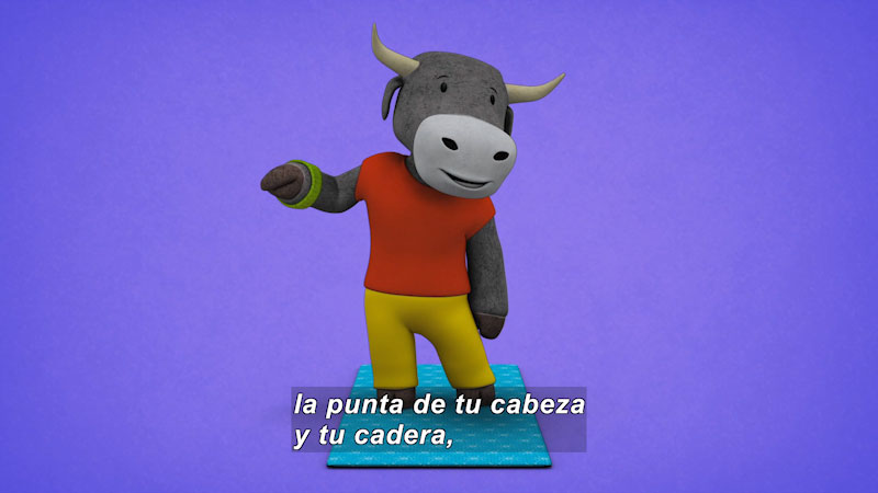 Still image from Ooommm Mmmooo Yoga For Children: Courageous Pepe--Reenergized Bull (Spanish)