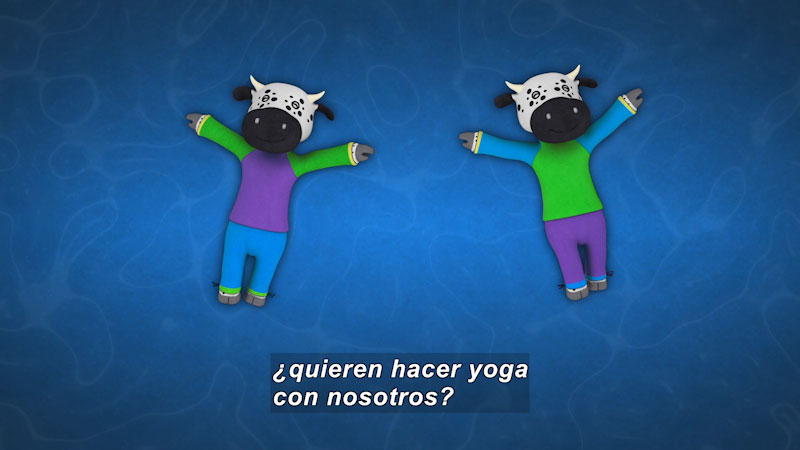 Still image from Ooommm Mmmooo Yoga For Children: Inseparable Pati & Ani--Aquatic Relaxation (Spanish)