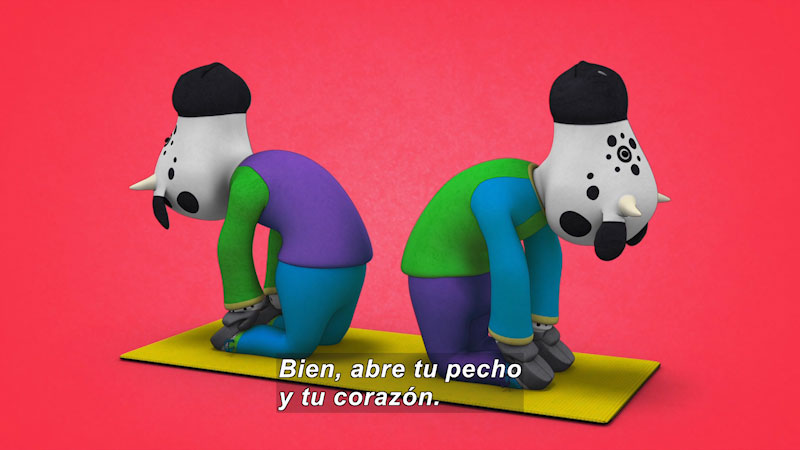 Still image from Ooommm Mmmooo Yoga For Children: Inseparable Pati & Ani--In Contact (Spanish)