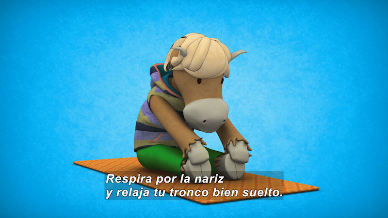 Still image from Ooommm Mmmooo Yoga For Children: Green Willy--Detoxifies (Spanish)
