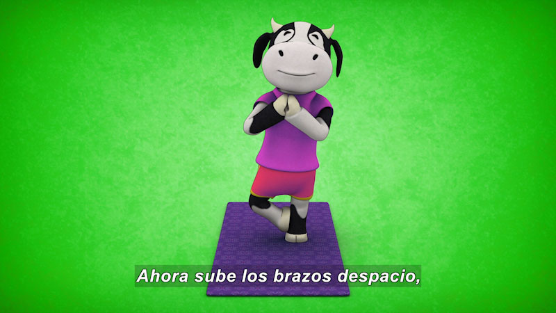 Still image from Ooommm Mmmooo Yoga For Children: Harmonious Flora--Internal Silence (Spanish)