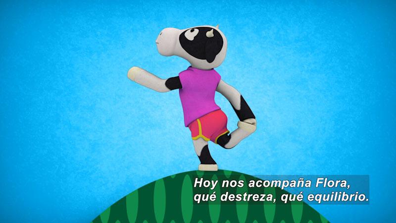 Still image from Ooommm Mmmooo Yoga For Children: Harmonious Flora--In Nature (Spanish)