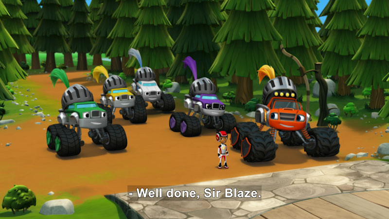 Still image from Blaze and the Monster Machines: Knight Riders