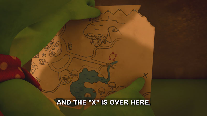 Still image from Franklin and Friends: Franklin Finds the Treasure/Franklin and the Tunnel Team-Up