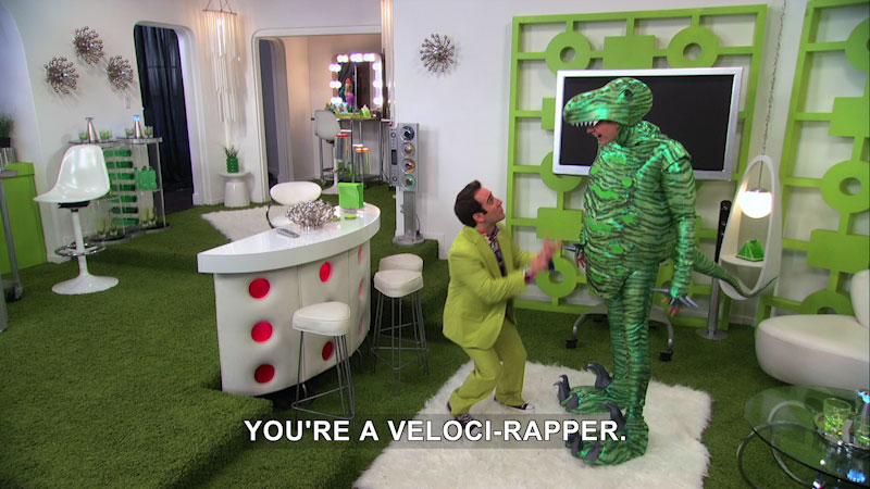 Still image from The Fresh Beat Band: Veloci-Rap-Star